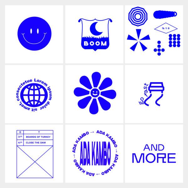 album art graphics set